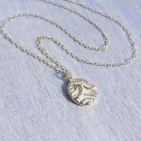 Silver Wave Pendant Necklace | Selkie Jewellery